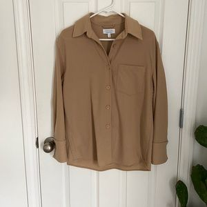 & Other Stories Camel Collared Button Up